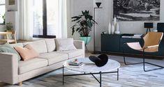 Home Interior Farmhouse - Arquitetura Interior Apartamento - American Luxury Interior - Minimalist Sofa, Modern Minimalist Living Room, Elegant Living Room, Minimalist Home Decor, Living Room Modern, Living Room Designs, Small Living, Clean Living, Minimalist Fashion