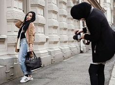 Swedish Photographer Elin Berge puts turns the traditional islamic women attire into something more fashionable with a western twist. The photo series is called Hijabistas, mixing the hijab with fashion  produces unique and beautiful works of art and seems to be changing the image of modern Muslim woman.  #design #photographer #islamic #women #modern #fashion #inspiration #photography