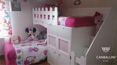Literas con camas en L para habitaciones infantiles y juveniles. Literas con dos y tres camas. Literas con escalones. Literas con armarios. Literas con canapé.
