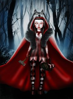 """""""little red riding hood can take care of herself"""" 