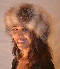 Genuine Crystal Fox Fur Headband
