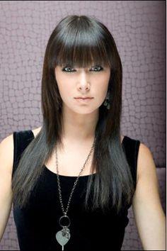 bangs hairstyles | 10 Ideas de cortes de pelo largo