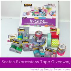 Scotch Expressions Tape Project and Giveaway