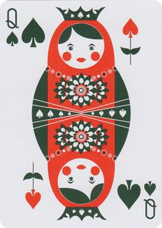 Russian Folk Art is a beautiful deck of playing cards inspired by Russian Folklore. Designed by Natalia Silva and printed at the US Playing Card Co.