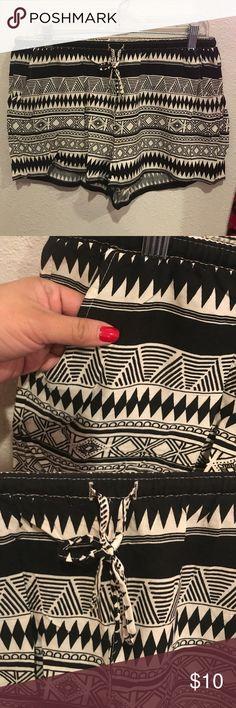 black & beige Aztec shorts size large NWT Black & Beige shorts size Large .... Bundle & Save ...Please ask questions....* shorts have pockets!! Shorts