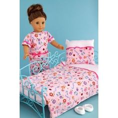 Perfect Bedding - Pink cozy bedding includes comforter, blanket and pillow. (Toy)
