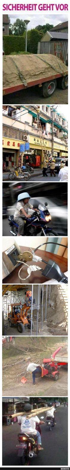 Sicherheit geht vor!