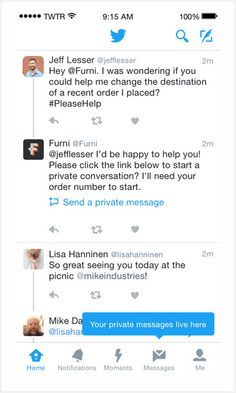 Ver Twitter lanza herramientas para facilitar a las marcas la atención de servicio al cliente