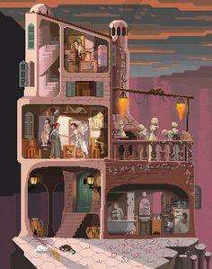 Scene #18: 'The Painter' www.pixelshuh.com