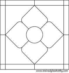 flower square panel stained glass pattern