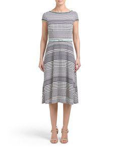 7801415fc401f main image of Polka Dot Dress With Belt Dot Dress