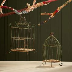 Wire Birdcage Ornament