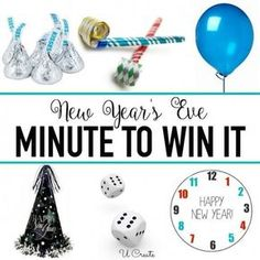 Fun games not just for new years — New Year's Eve Minute To Win It Games Source by julietrosebtq Related posts: New Years Eve Game – Drink If Game – Printable New Year's Eve Game – New Years Eve Games – New … Kids New Years Eve, New Years Eve Games, New Years Party, News Years Eve, Nye Games, New Year's Games, Group Games, Happy New Year Game, New Year's Eve Games For Adults