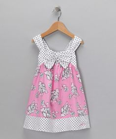 Take a look at this Pink Rose & Polka Dot Swing Dress - Infant & Toddler  by Blow-Out on #zulily today! #Fall