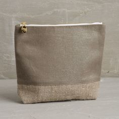 Lustrous Burlap Cosmetic Zippy Pouch, by Christen Maxwell