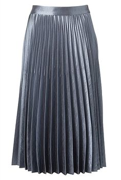 High-Shine Pleat Skirt | Clothing Fit And Fix, Pleated Midi Skirt, Satin, Colour, Cream, Navy, Winter, Skirts, Clothing