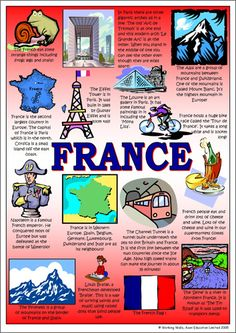 A3 Laminated Poster - France