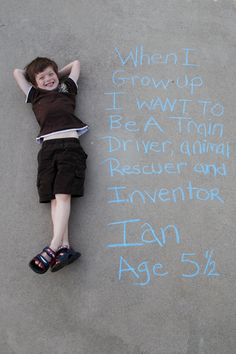 Growing kid + Cool Pinterest ideas = fun photographic memories!
