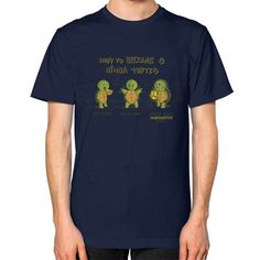 How to Become A Ninja Turtle Unisex T-Shirt (on man)