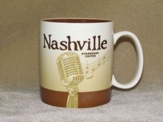 Nashville Starbucks Coffee Collector Series Global Icon Mug Cup 2011 #Starbucks