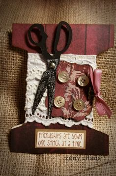 BROWN SPOOL Card by ZanyChaos on Etsy, $4.50
