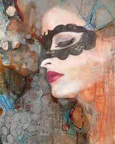 Masked Goddess photomontage digital art Image abstract por VoogsArt