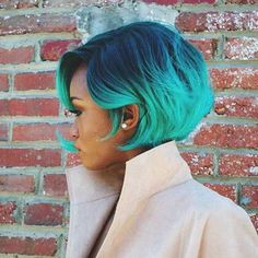 101 Everyday New Black Women Frisuren dieses Jahr zu kopieren, Neue schwarze Frauenfrisuren , Neue Frisuren Hair Cute, Love Hair, Great Hair, Gorgeous Hair, Turquoise Hair Ombre, Ombre Hair, Ombre Bob, Blue Ombre, Aqua Hair