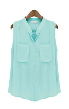 a basic simple blouse in a soft fabric, lovely summer color. Easily paired with;  skinny jeans, cropped pants, leggings, shorts, pencil skirt, or another style skirt! LOVELY@