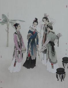 著名画家赵国经作品欣赏 Chinese Brush, Chinese Art, Hyperrealistic Art, Chinese Patterns, Traditional Art, Oriental, Statue, History, Artist