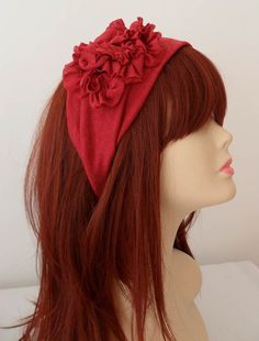 ON SALE Burgundy Headband Womens Fashion by JasmineAccessory, $13.90