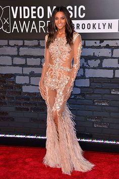 Ciara in Givenchy Couture at the MTV VMAs 2013