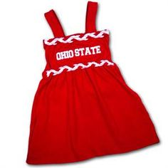 Ohio State Infant Braided Dream Dress so cue!