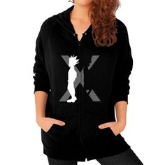 The Light And The Shadow Zip Hoodie (on woman) Shirt