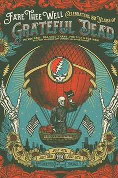Grateful Dead 'Fare Thee Well': Meet the Artists Behind the Limited Edition Posters - Speakeasy - WSJ the artist Grateful Dead 'Fare Thee Well': Meet the Artists Behind the Limited Edition Posters Rock Posters, Band Posters, Music Posters, Phish Posters, Old Poster, Grateful Dead Poster, Dead And Company, Meet The Artist, Rock Art