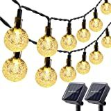 Solar String Lights, 72ft 8 Modes 200 LED Solar Fairy Lights Decorative Lighting for Wedding, Garden, Home, Patio, Porch, Lawn, Party and Holiday Decorations (Warm White) Solar Patio Lights, Solar Fairy Lights, Solar Led String Lights, Outdoor Fairy Lights, Globe String Lights, String Lights Outdoor, Patio Lighting, Light Decorations, Holiday Decorations