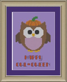 Happy owl-oween: cute owl halloween cross-stitch pattern. $3.00, via Etsy.