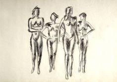 "Saatchi Art Artist Antonios Georgakis; Drawing, ""catwalk"" #art"