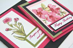 Floral Birthday Greeting Card including Bath by GwensHomemadeGifts