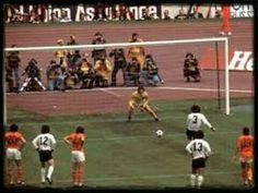 West Germany 2 Holland 1 in 1974 in Munich. A penalty by Paul Breitner makes it 1-1 in the World Cup Final.