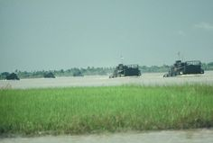 US Navy boats on the move