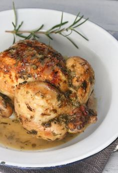 cornish game hens roasted in wine & herbs
