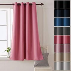 52-inch Wide By 63-inch Drop NICETOWN Pink Blackout Curtains for Girls Baby Pink Eyelet Top Cut Out Star Pattern Panels Match Net White Voile for Romantic Princess Nursery Bedroom 2 Pieces