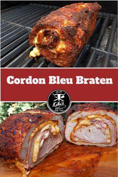 Grill & BBQ Rezept für einen saftigen Cordon Bleu Braten vom Grill; natürlich mit Käse und Kochschinken