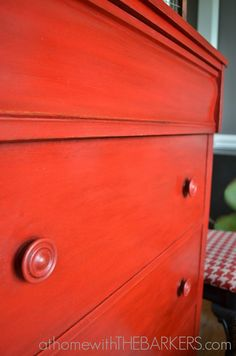 Painting with Annie Sloan Chalk Paint {Emperor's Silk} - At Home With The Barkers