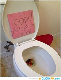 This is a great way to make sure your kids know that the Easter Bunny came.