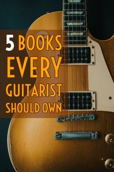5 Essential Guitar Books - 5 Books Every Guitarist Should Own. A comprehensive list of the best learning materials for aspiring guitarists of any skill level. Music Theory Guitar, Jazz Guitar, Guitar Solo, Guitar Tips, Music Guitar, Playing Guitar, Music Chords, Dj Music, Cool Guitar