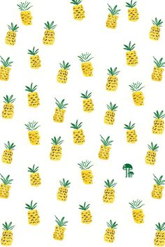 Free iphone wallpaper with hand drawn pineapple pattern Girly Wallpaper, Free Phone Wallpaper, Wallpaper Downloads, Pattern Wallpaper, Wallpaper Ipad Mini, Summer Wallpaper, Hd Wallpaper, Cute Pineapple Wallpaper, Pineapple Backgrounds