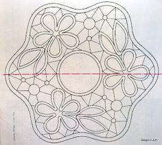 MACRAME 'Romeno - LACE POINT: Modelos para MACRAME' romeno (desenhos)