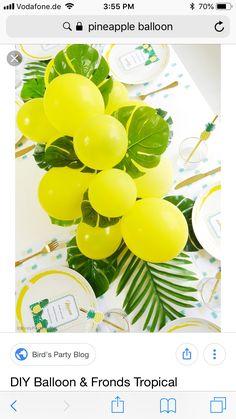 Flamingo Baby Shower, Bird Party, Balloons, Tropical, Birds, Blog, Diy, Globes, Bricolage