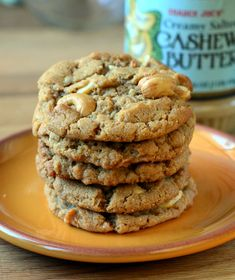 The Best Cashew Cookies-- do a sugar swap for the brown sugar- date paste or maple syrup